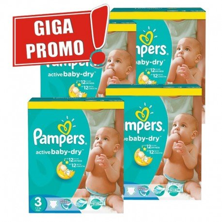 300 Couches Pampers Active Baby Dry taille 3 sur Sos Couches