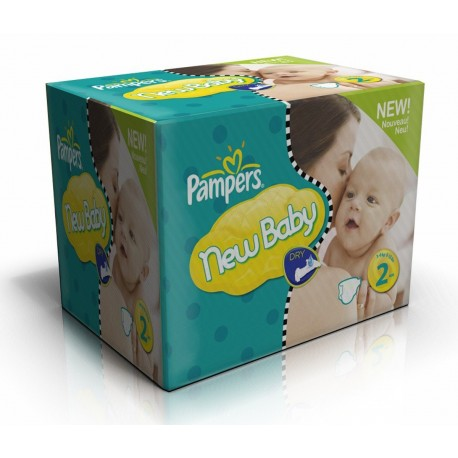 1296 Couches Pampers New Baby Dry taille 2 sur Sos Couches