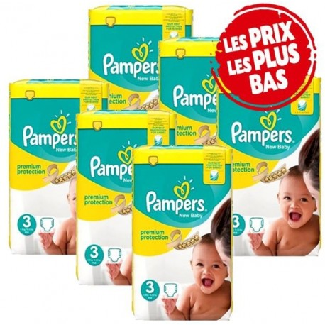 160 Couches Pampers New Baby Premium Protection taille 3 sur Sos Couches