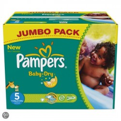 304 Couches Pampers Baby Dry taille 5