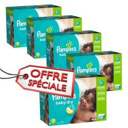 532 Couches Pampers Baby Dry taille 5