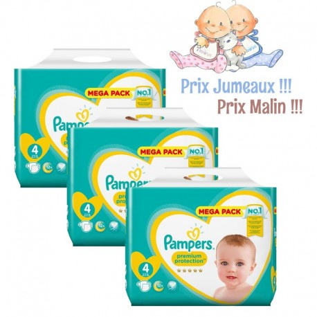 144 Couches Pampers New Baby Premium Protection taille 4 sur Sos Couches