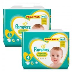 360 Couches Pampers New Baby Premium Protection taille 4
