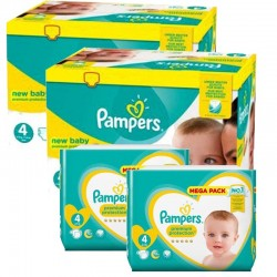 408 Couches Pampers New Baby Premium Protection taille 4