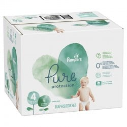 168 Couches Pampers Pure Protection taille 4