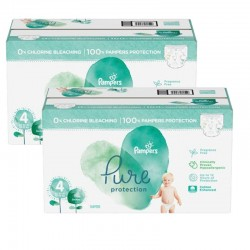 196 Couches Pampers Pure Protection taille 4