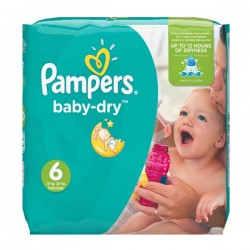 96 Couches Pampers Baby Dry taille 6
