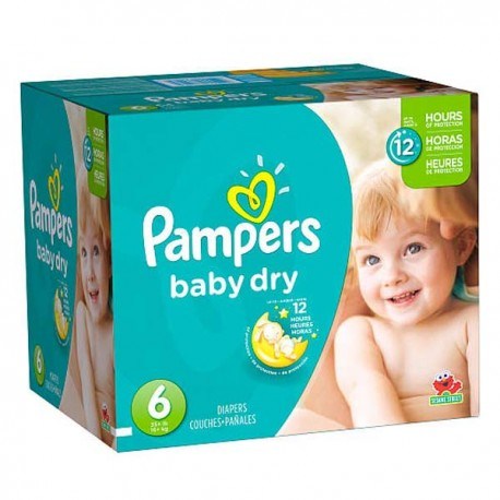 960 Couches Pampers Baby Dry taille 6 sur Sos Couches