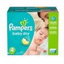75 Couches Pampers Baby Dry taille 4 sur Sos Couches