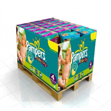 475 Couches Pampers Baby Dry taille 4 sur Sos Couches