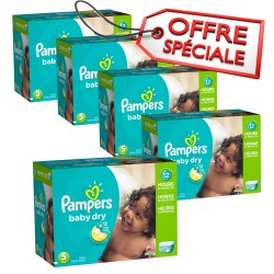 117 Couches Pampers Baby Dry taille 5