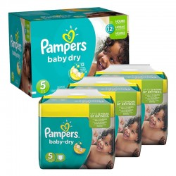 156 Couches Pampers Baby Dry taille 5