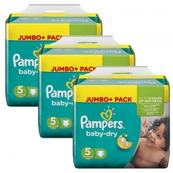 195 Couches Pampers Baby Dry taille 5