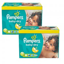 312 Couches Pampers Baby Dry taille 5