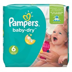 19 Couches Pampers Baby Dry taille 6