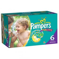 76 Couches Pampers Baby Dry taille 6