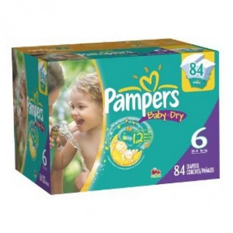 171 Couches Pampers Baby Dry taille 6 sur Sos Couches