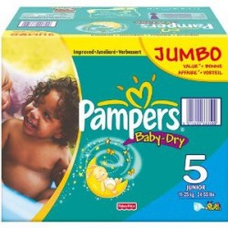 155 Couches Pampers Baby Dry taille 5