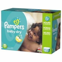 279 Couches Pampers Baby Dry taille 5