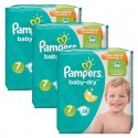 203 Couches Pampers Baby Dry taille 7 sur Sos Couches