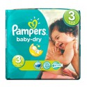 30 Couches Pampers Baby Dry taille 3 sur Sos Couches