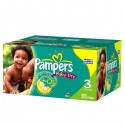 120 Couches Pampers Baby Dry taille 3 sur Sos Couches