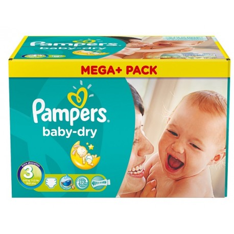 240 Couches Pampers Baby Dry taille 3 sur Sos Couches
