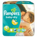 196 Couches Pampers Baby Dry taille 4 sur Sos Couches