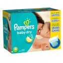 245 Couches Pampers Baby Dry taille 4 sur Sos Couches