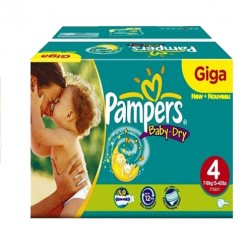 637 Couches Pampers Baby Dry taille 4