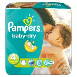 784 Couches Pampers Baby Dry taille 4