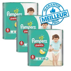 228 Couches Pampers Baby Dry Pants taille 6
