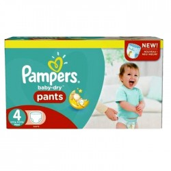 164 Couches Pampers Baby Dry Pants taille 4