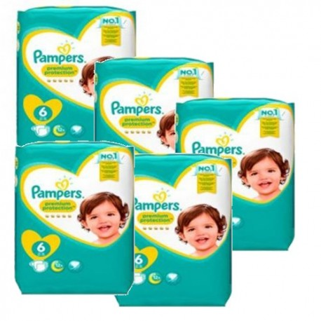 341 Couches Pampers New Baby Premium Protection taille 6 sur Sos Couches