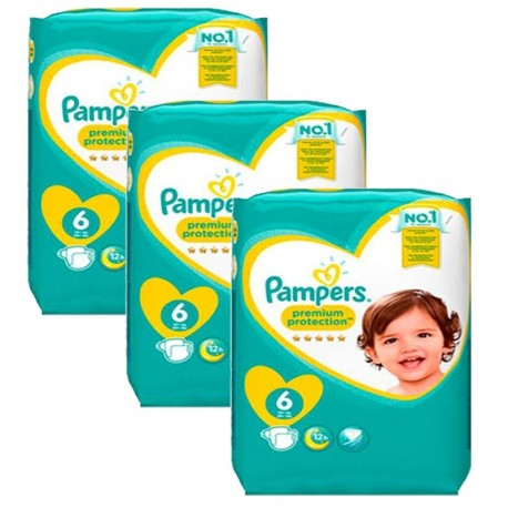 372 Couches Pampers New Baby Premium Protection taille 6 sur Sos Couches