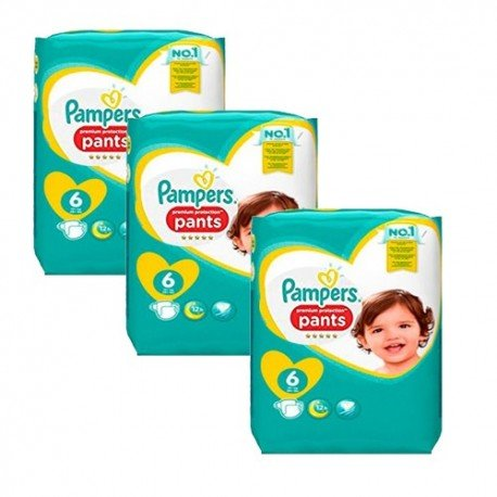 64 Couches Pampers Premium Protection Pants taille 6 sur Sos Couches