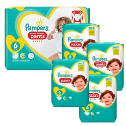 208 Couches Pampers Premium Protection Pants taille 6