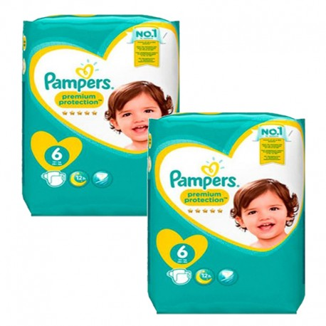 128 Couches Pampers Premium Protection taille 6 sur Sos Couches