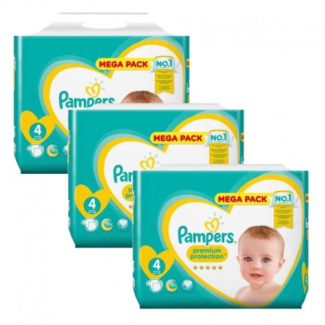 246 Couches Pampers Premium Protection taille 4 sur Sos Couches