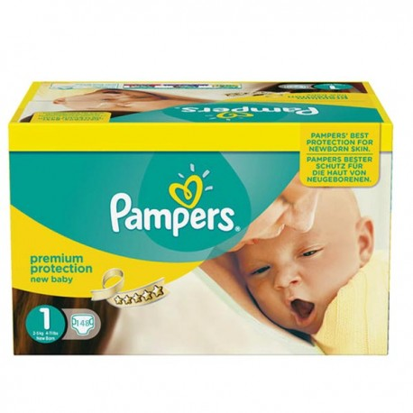 198 Couches Pampers Premium Protection taille 1 sur Sos Couches