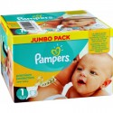242 Couches Pampers Premium Protection taille 1 sur Sos Couches