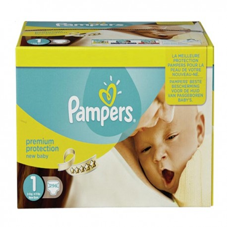 308 Couches Pampers Premium Protection taille 1 sur Sos Couches
