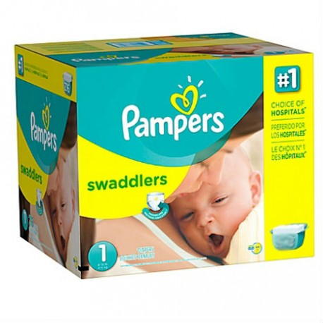 374 Couches Pampers Premium Protection taille 1 sur Sos Couches