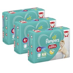 164 Couches Pampers Baby Dry Pants taille 4+