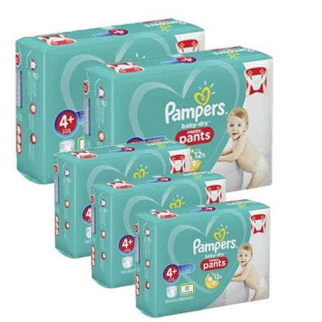 328 Couches Pampers Baby Dry Pants taille 4+ sur Sos Couches