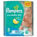 124 Couches Pampers Active Baby Dry taille 3 sur Sos Couches