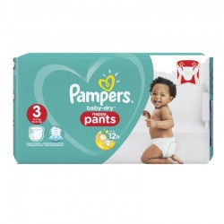 19 Couches Pampers Baby Dry Pants taille 3