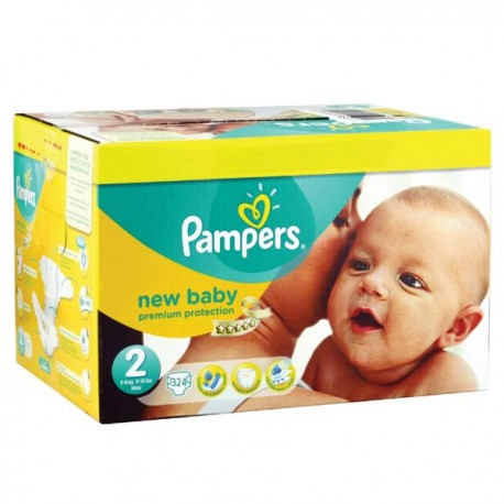 468 Couches Pampers Premium Protection taille 2 sur Sos Couches