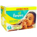 136 Couches Pampers New Baby Premium Protection taille 3 sur Sos Couches