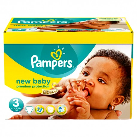 408 Couches Pampers New Baby Premium Protection taille 3 sur Sos Couches
